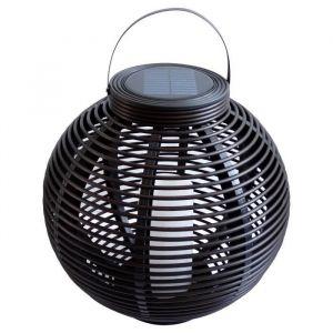 Mundus Lanterne tressée en plastique Ø42 x H40,5 cm - Noir - En plastique - Diamètre : 42 cm - Hauteur : 40,5 cm - Coloris : noir.