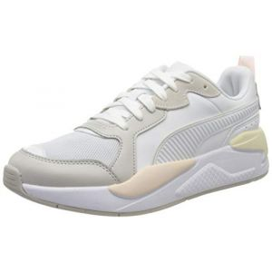 Puma X-Ray Game, Baskets Mixte Adulte, Blanc White-Gray Violet-Pink Rosewater-Whisper White 04, 37 EU