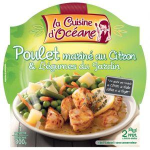 La Cuisine d'Océane Poulet roti marine et légumes du jardin - La barquette micro ondable de 300g