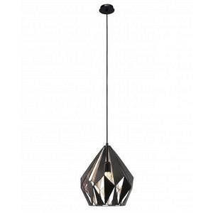 Eglo Lampe pendante noire cuivre Carlton 1