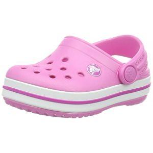 Crocs Crocband Clog Kids, Sabots Mixte Enfant, Rose (Party Pink), 33-34 EU