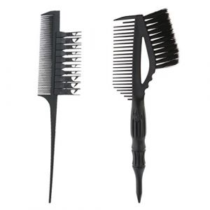 MagiDeal Brosse de Teinture à Coloration de Cheveux pour Salon + Peigne à Coupe de Cheveux / Highlight Cheveux