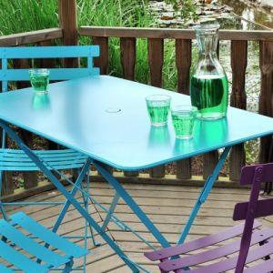 Fermob Bistro - Table de jardin rectangulaire en acier 117 x 77 cm