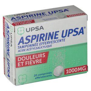 Upsa Aspirine 1000 mg - 20 Comprimés effervescents
