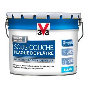 V33 Sous-couche plaque de plâtre blanc mat 10 litres
