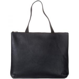 Dudu Sac porté épaule pour femme en Cuir souple Design Essentiel rectangulaire avec fermeture éclair Noir