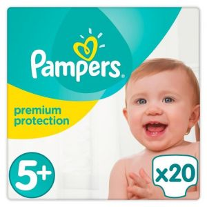 Pampers Premium Protection taille 5+ (Junior+) 13-25 kg - 20 couches