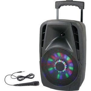Lotronic Enceinte Bluetooth Trolley 8 LED Party