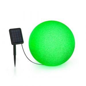 Blumfeldt Shinestone Solar 40 - Lampe Ø 40cm pour jardin & terrasse - Panneau solaire - 16 couleurs - Batterie lithium-ion
