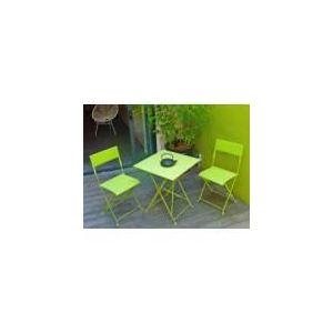 Table de jardin pliante Mezzo avec 2 chaises
