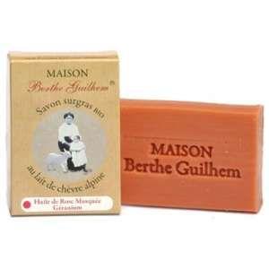Maison Berthe Guilhem Savon surgras bio huile rose musquée/Géranium