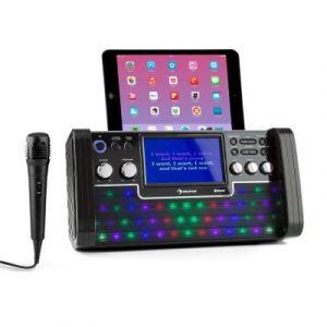 Auna DiscoFever Chaîne karaoké Bluetooth LED Ecran TFT 7 lecteur CD USB + 2 mic