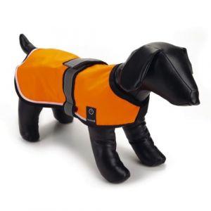 Beeztees Gilet de sécurité nylon avec LED et USB L, 60 cm - Orange - Taille 60