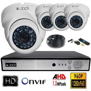 Jod-1 Kit vidéosurveillance AHD 960P 4 dômes  1,3MP