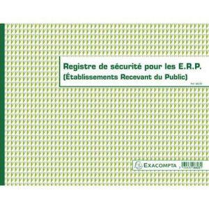 Exacompta 6623E - Registre de sécurité pour les Ets Recevant du Public (ERP), 24x32 32p.
