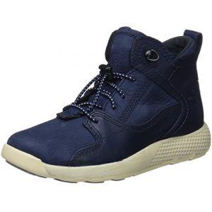 Timberland Flyroam Leather Hiker, Bottes Chukka Mixte Enfant, Bleu (Black Iris Gluvy 019), 35 EU