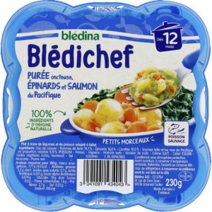 Blédina Bledichef 230g purée onctueuse, epinards et saumon du pacifique dès 12 mois