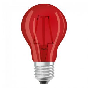 Osram Ampoule LED | Culot: E27 | Rouge | 3000 K | 2,50 W | équivalent à 15 W | clair | LED STAR DECO CLASSIC A