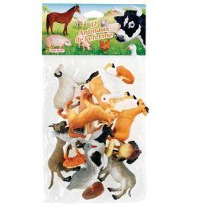 Kim'play 12 figurines d'animaux de la ferme