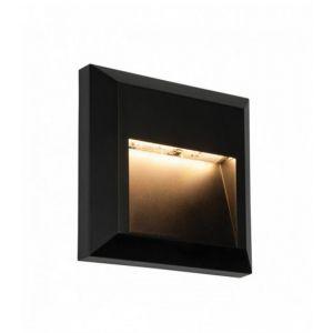 Applique extérieur Severus Plastique ABS noir 1 1W