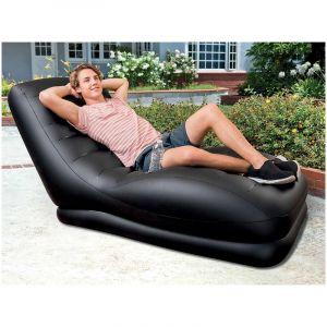 Intex Fauteuil Gonflable Black Lounge Waterproof pour Intérieur et Extérieur