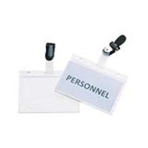 009251 - 25 badges à clip et bretelle pour carte magnétique (60 x 90 mm)