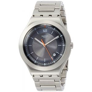 Swatch Homme Analogique Quartz Montre avec Bracelet en Acier Inoxydable YWS425G