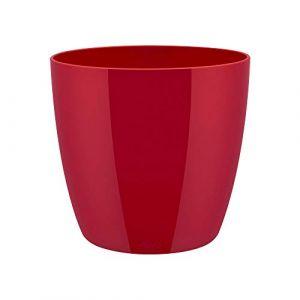Elho Pot de fleurs - brussels diamond rond 30cm lovely rouge - 29.6 x 29.6 x 27.2 cm