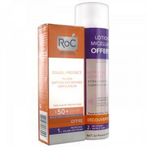 ROC Coffret fluide anti-taches brunes unificateur SPF 50+ + lotion micellaire confort extrême