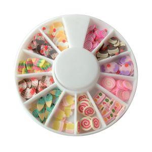 DTM Tranches mini canes Fimo - Bonbons et Pâtisseries - 12 modèles (120 pcs)