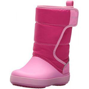 Crocs LodgePoint Snow Boot Kids, Mixte Enfant Bottes, Rose (Candy Pink/Party Pink), 34-35 EU