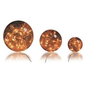 Blachère illumination 3 boules verre brun ambre 3 mètres de long