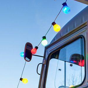 Lights4Fun Guirlande Lumineuse Guinguette avec 30 Boules LED Multicolores pour Intérieur / Extérieur de