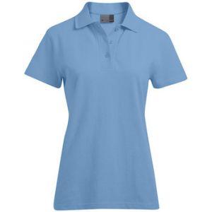 Promodoro Polo supérieur Femmes, XS, bleu ciel