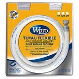 Wpro TBC158 - Tuyau flexible avec embouts vissables pour gaz butane/propane (1.50 m)
