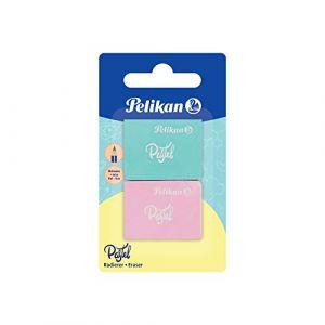 Pelikan Gomme en plastique PASTEL, carte blister de 2 - Lot de 9