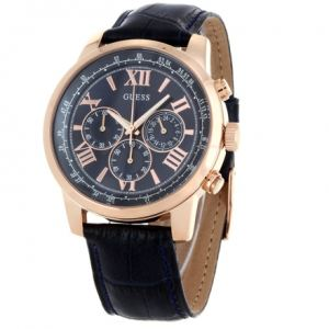 Guess W0380G - Montre pour homme avec bracelet en cuir