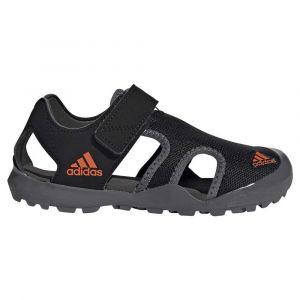 Adidas Captain Toey K, Sandales Mixte Enfant, Noyau Noir/Orange/Gris Cinq, 35 EU
