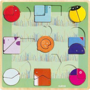 Djeco Ludiform - Puzzle en bois 18 pièces