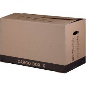 Gpv 29851 - Caisse de déménagement Pack'n Post 637x340x360, en carton simple cannelure, coloris brun