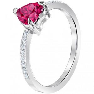 Swarovski Bague ONE-RING-HEART-PINK-Bague Cool Romance Argenté C?ur Violet Femme