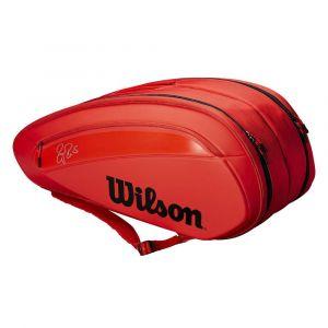 Wilson Sac De Tennis Federer DNA 12 Infrared Rouge