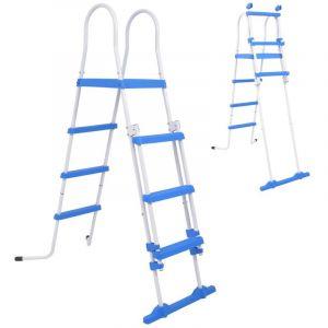 VidaXL Échelle de sécurité pour piscine hors-sol avec 3 marches 122 cm