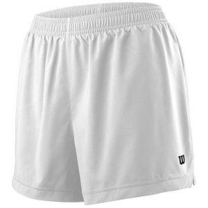 Wilson Femme Short de Tennis, W TEAM 3.5 SHORT, Polyester, Blanc, Taille XL, WRA766301