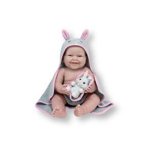 Berenguer Poupon newborn nouveau né sexué fille avec accessoires thème lapin