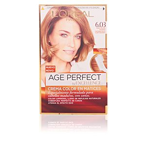L'Oréal Excellence Age Perfect 6.03 Blond Foncé Radiant - Crème colorante triple protection