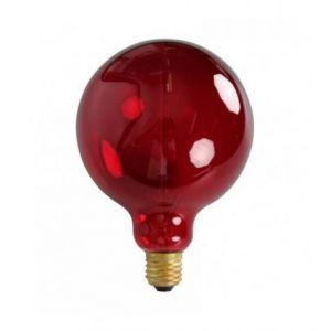 Ampoule décorative rétro Edison globe rouge (D.12,5cm) filament incandescent 40W (E27)