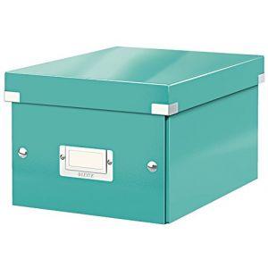 Leitz 6043-00-51 - Boîte de rangement Click & Store, format A5, en PP, coloris menthe glacée