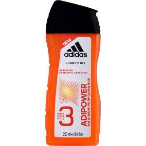 Adidas Adipower - Gel douche corps, visage et cheveux