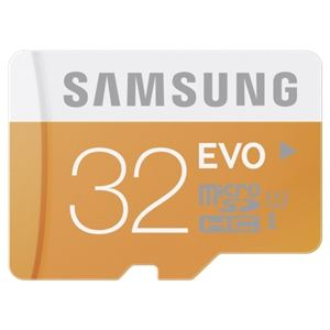 Samsung MB-MP32DU2/EU - Carte mémoire microSDHC EVO 32 Go classe 10 avec adaptateur USB